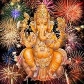 Ganesha fireworks
